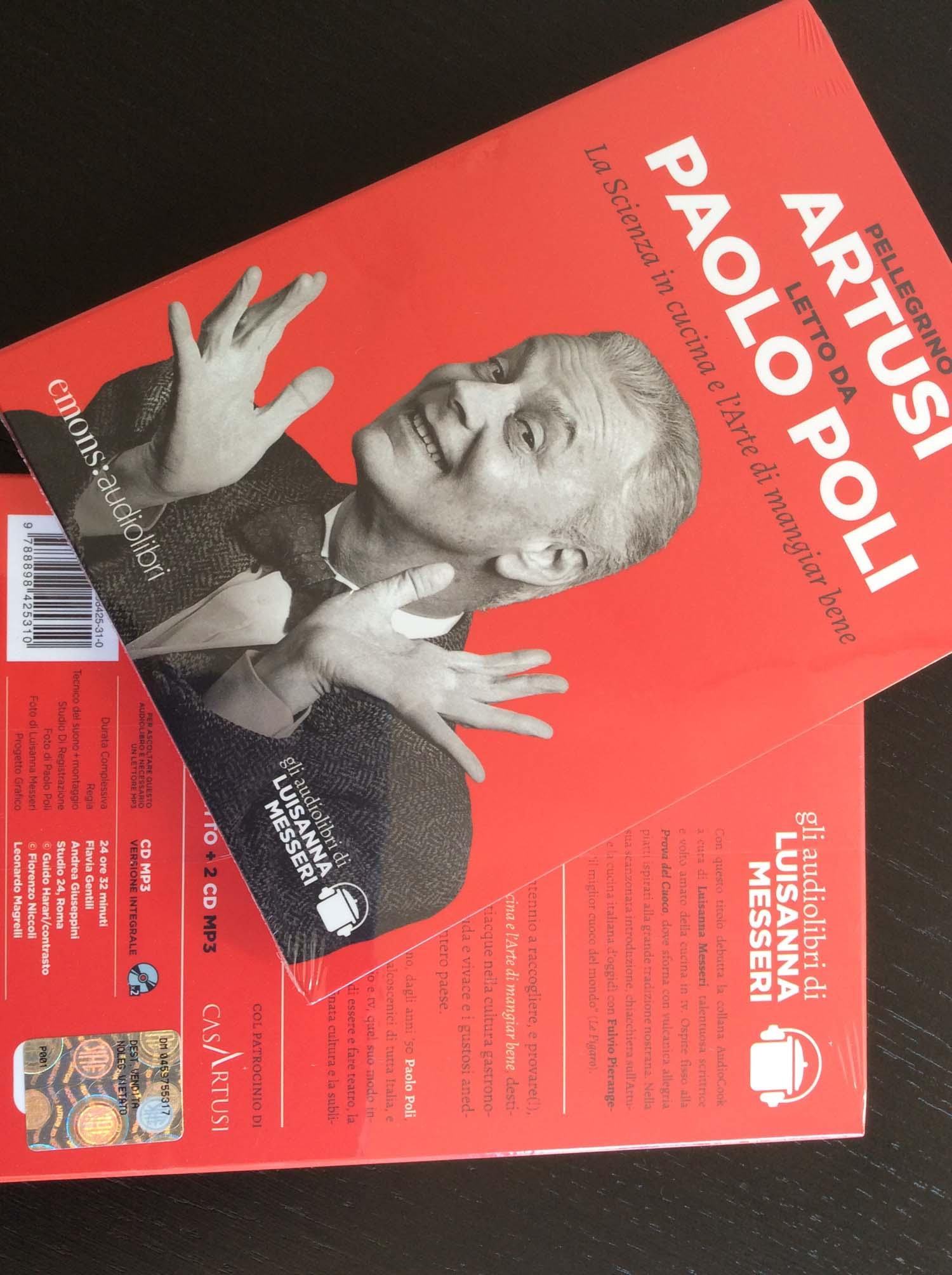 L'audiolibro le ricette di Artusi raccontate da Paolo Poli