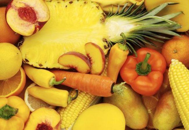 Frutta e verdura giallo-arancio