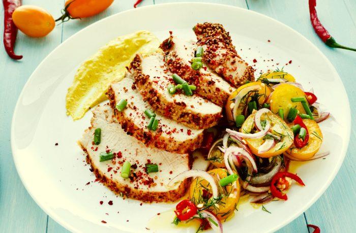 Pollo alla peperoncino e senape