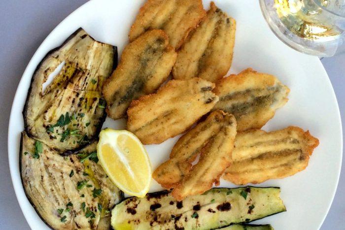 Cotolette di Sarda con verdure marinate