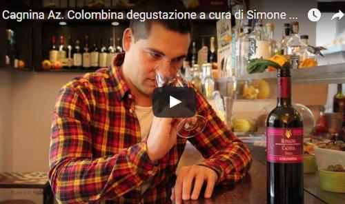 Simone Rosetti degusta la Cagnina dell'Azienda Agricola Colombina