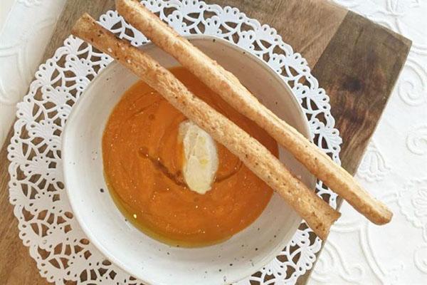 Crema di Zucca con mousse al gorgonzola_Brasserie