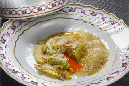 L'uovo raviolo - Ristorante San Domenico - Imola