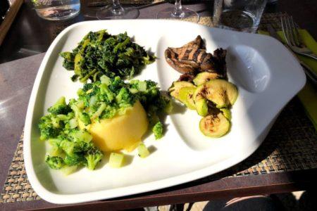 Polenta con verdure - Ristorante Righi - Chef Sartini - San Marino