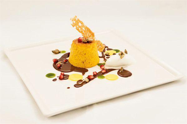 Tortino gratinato di zucca Delica con cacao - Quartopiano Suite Restaurant