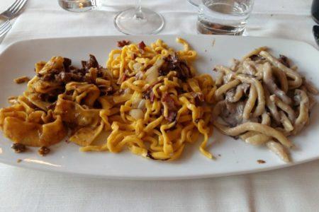 Tris di primi - Trattoria La Casetta - Brisighella