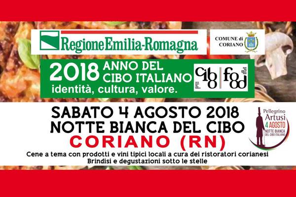 Notte Bianca del Cibo Italiano a Coriano
