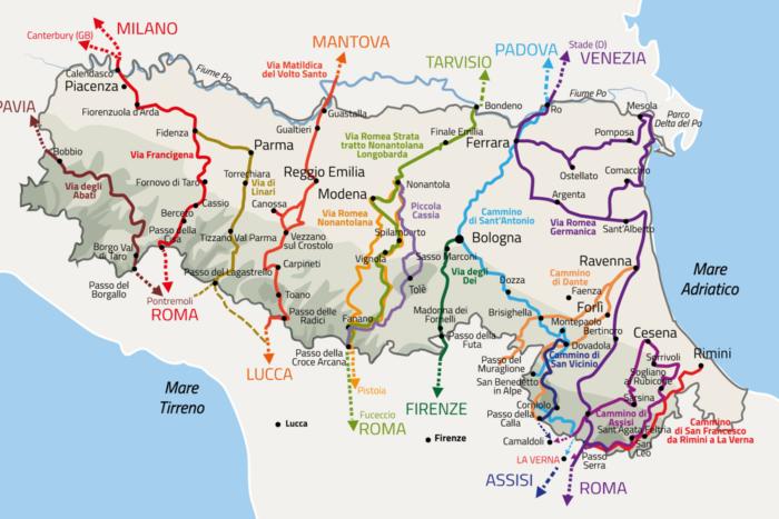 Vie dei Pellegrini - Turismo dei Cammini in Emilia Romagna