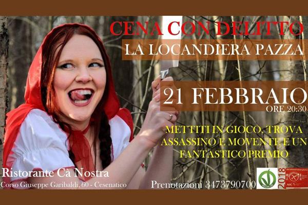 Cena con Delitto - La Locandiera Pazza - Ca Nostra Cesenatico