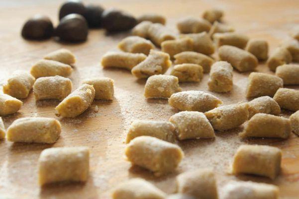 Gnocchi con farina di castagne