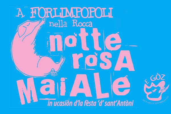 La notte rosa del maiale a Forlimpopoli