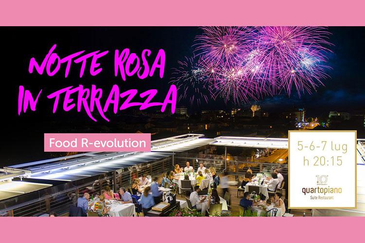 Notte Rosa in terrazza al Quartopiano