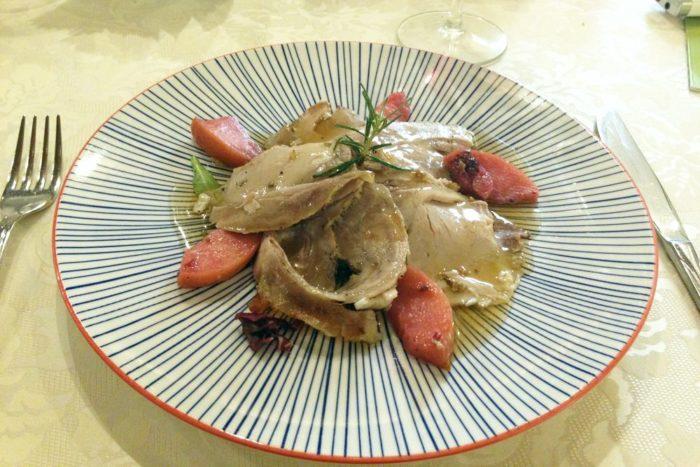 Maialino al forno con le mele selvatiche - Agriturimo I Muretti - Monte Colombo di Montescudo