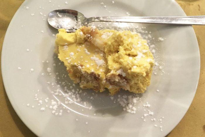 Mousse di zabaione con i savoiardi - Osteria Nascosta - Forlì