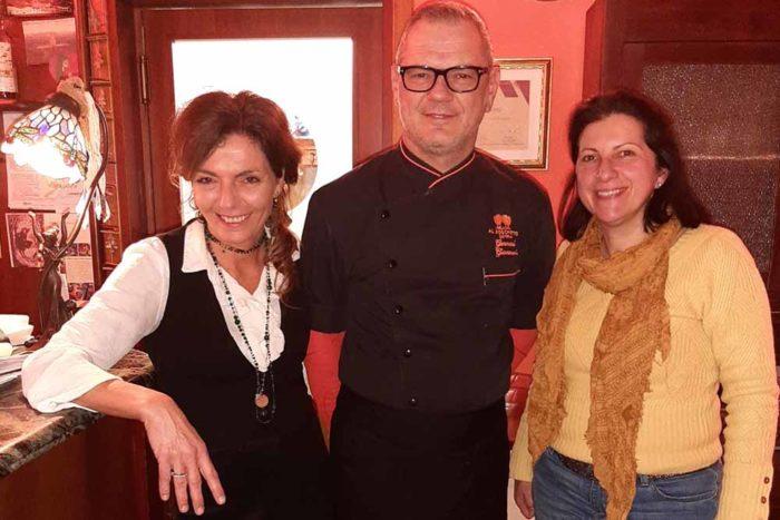 Chef Giovanni titolare Daniela e Alessandra Ristorante Il Boschetto di Ravenna