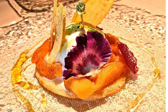 Tarte Tatin con gelato Locanda dei Salinari di Cervia