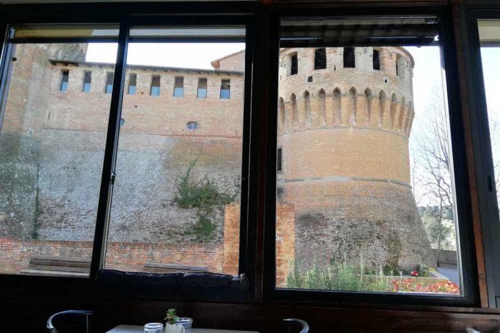 Ristorante La Scuderia a Dozza Imolese_Vista Rocca