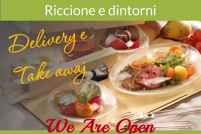 Ristoranti di Riccione e Coriano aperti all'aperto a pranzo e cena con asporto e delivery