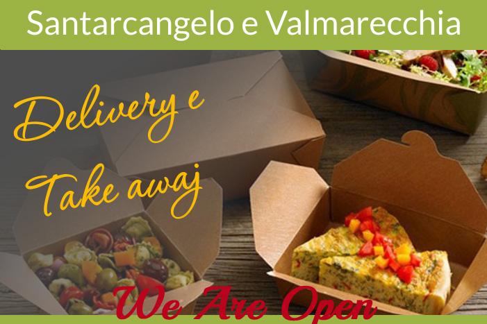 Ristoranti di Santarcangelo e Valmarecchia aperti all'aperto a pranzo e cena con asporto e delivery