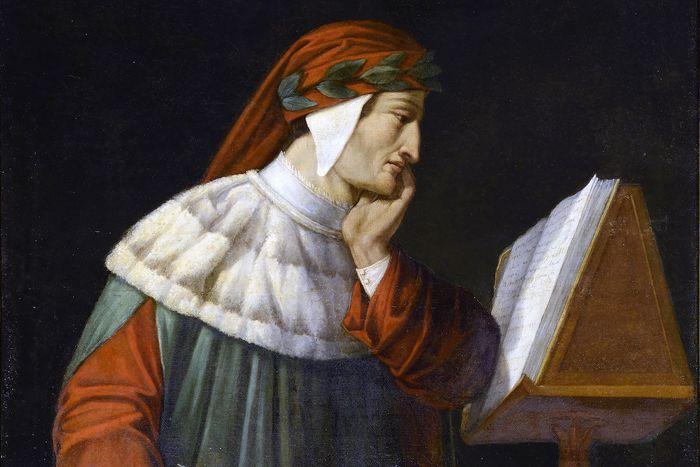 Dantedì - Dipinto di Attilio Runcaldier _Foto © Biblioteca Classense