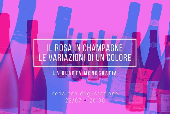 Il Rosa in Champagne - cena con degustazione del Quartopiano