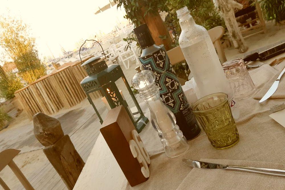 Posto tavola di un locale della Romagna